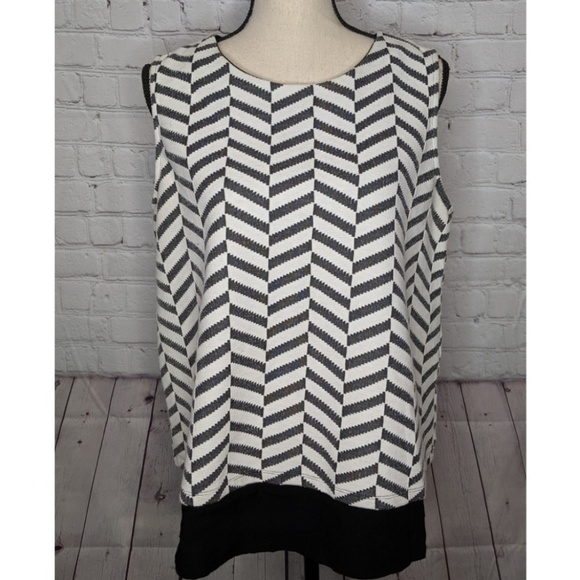 Pleione Tops - Pleione black & white top NWT